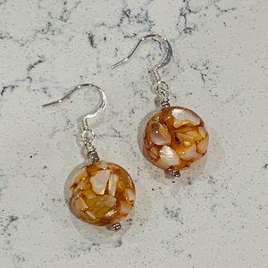 🎉5 for $25🎉 Orange Speckle Earrings